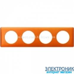 Рамка 4-постовая Legrand Celiane, прямоугольная, 303х82мм (оранж пунктум)