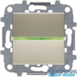 Выключатель 1-кл. универсальный с подсветкой ABВ Zenit шампань