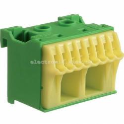 Блок PE-клемм, количество единиц деления - 1,5 ширина — 45мм Hager
