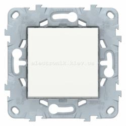 Выключатель 1-клавишный ,проходной (с двух мест), Белый, серия Unica New