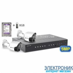 Комплект видеонаблюдения BALTER KIT 5MP (2 наружные камеры)
