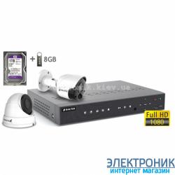Комплект видеонаблюдения BALTER KIT 2MP (1 наружная камера, 1 купольная камера)