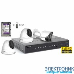 Комплект видеонаблюдения BALTER KIT 2MP (1 наружная камера, 2 купольные камеры)