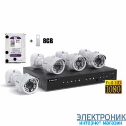 Комплект видеонаблюдения Balter HDS-MT1244KIT 2МР (4 наружные камеры)