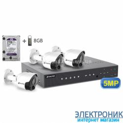 Комплект видеонаблюдения BALTER KIT 5MP (3 наружные камеры)