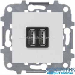 Розетка USB для подзарядки 1400мА/700Ма  ABВ Zenit белый