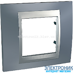 Рамка 1-я Schneider Electric Unica Top Металлик/Алюминий