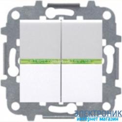 Выключатель 2-кл. с подсветкой ABВ Zenit белый