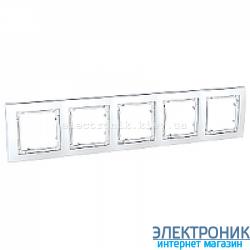 Рамка 5-я Schneider (Шнайдер) Unica Colors Белый