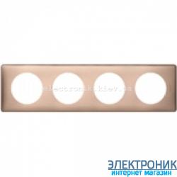 Рамка 4-постовая Legrand Celiane, прямоугольная, 303х82мм (медь)
