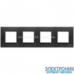 Рамка 4 пост ABВ Zenit антрацит