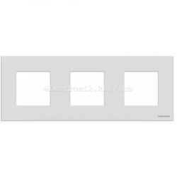 Рамка тройная ABВ Zenit белое стекло