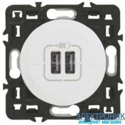 Розетка USB Legrand Celiane для зарядки двойная Белый