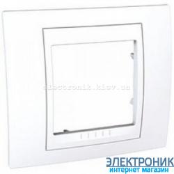 Рамка одноместная Schneider (Шнайдер) Unica Plus Белый/Белый