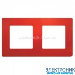 Рамка 2-х постовая Legrand Etika (красная)
