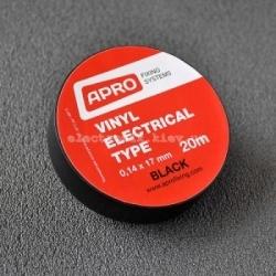 Изолента (черная) 0,17мм*18мм*20м APRO