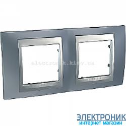 Рамка 2-я горизонтальная Schneider Electric Unica Top Металлик/Алюминий