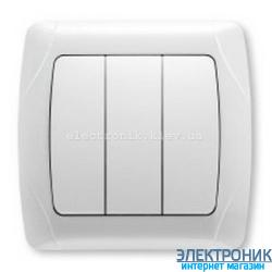 VIKO CARMEN БЕЛЫЙ Выключатель тройной