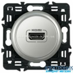 Розетка аудио/видео HDMI Legrand Celiane с лицевой панелью Титан