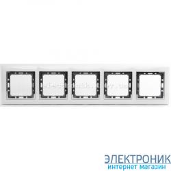 Рамка 5-ая Tesla LXL белый/хром