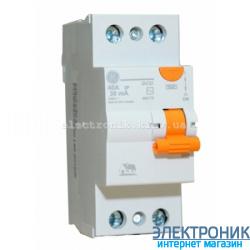 Дифференциальный выключатель однофазный (УЗО) General Electric DCG240/030 2P, AC