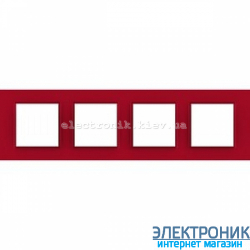 "Рамка четырехместная Schneider (Шнайдер) Unica Quadro ""Natura"" Lipstick"