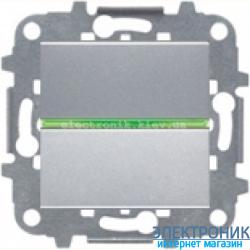 Выключатель 1-кл. универсальный с подсветкой ABВ Zenit серебро