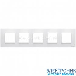 Рамка 5 пост ABВ Zenit белый
