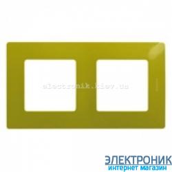 Рамка 2-х постовая Legrand Etika (зеленый папоротник)
