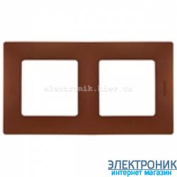 Рамка 2-х постовая Legrand Etika (какао)