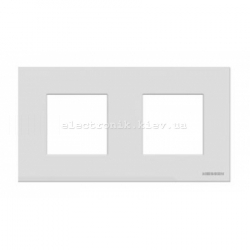 Рамка двойная ABВ Zenit белое стекло