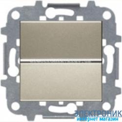 Выключатель 1-кл. кнопочный ABВ Zenit шампань
