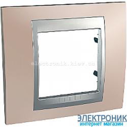 Рамка 1-я Schneider Electric Unica Top Оникс медный/Алюминий