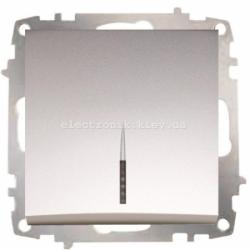 Механизм Выключатель с подсветкой EL-BI Zena Silverline Серый