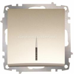 Механизм Выключатель с подсветкой EL-BI Zena Silverline Титаниум