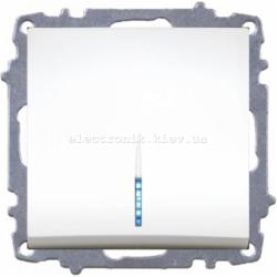 Механизм Выключатель проходной с подсветкой EL-BI Zena белый