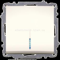 Механизм Выключатель проходной с подсветкой Крем  EL-BI Zena