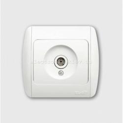 Розетка TV концевая белая EL-BI Zirve Fixline