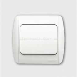 Выключатель 1-клавишный белый EL-BI Zirve Fixline