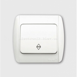 Выключатель 1-клавишный проходной белый EL-BI Zirve Fixline