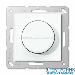 Светорегулятор поворотно-нажимной универсальный Eco Profi Белый