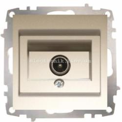 Механизм Розетка телевизионная EL-BI Zena Silverline Титаниум