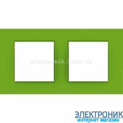 "Рамка двухместная Schneider Electric Unica Quadro ""Natura"" Bio"