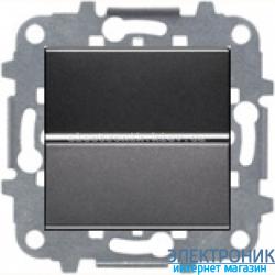 Выключатель 1-кл. кнопочный ABВ Zenit антрацит