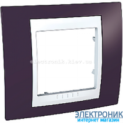 Рамка одноместная Schneider (Шнайдер) Unica Plus Гранат/Белый