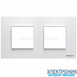 Рамка 2 пост ABВ Zenit белый