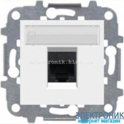 Розетка компьютерная или телефонная одинарная  ABВ Zenit белый