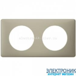 Рамка 2-постовая Legrand Celiane, прямоугольная, 161х82мм (грин перкаль)