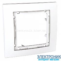 Рамка 1-я Schneider (Шнайдер) Unica Colors Белый