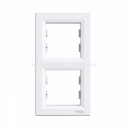 Рамка 2-я вертикальная белая Шнайдер ASFORA